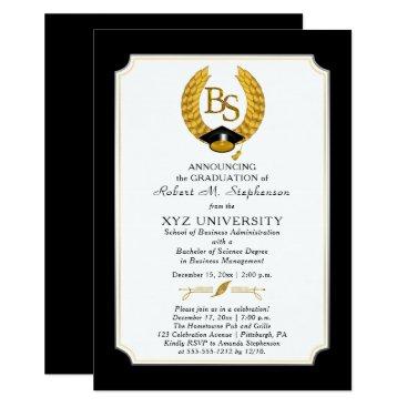 BS - Bachelor of Science Degree College Graduation Invitation