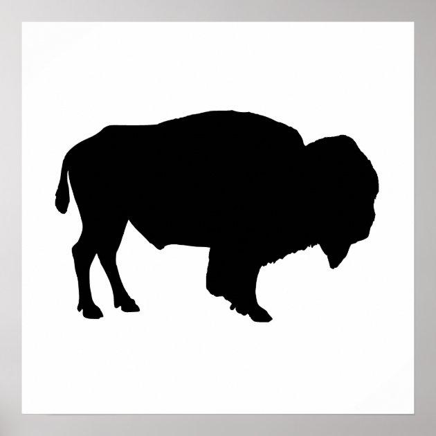 Buffalo Silhouette Poster Zazzle