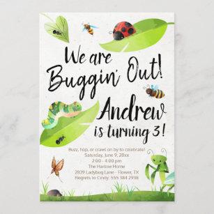 bug birthday invitations zazzle