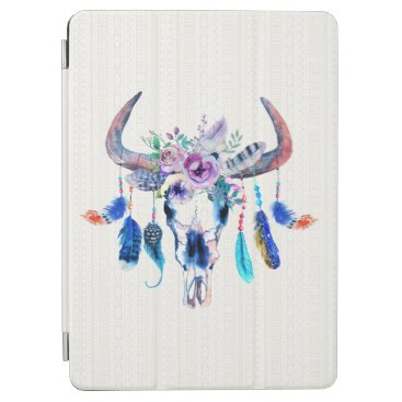 Bull Skull Feathers And Flowers iPad Air Cover