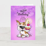 "❤️ Bull Terrier Cartoon Card ""Happy Birthday"""