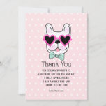 ❤️ Cool Cute Bulldog Birthday Thank You Card
