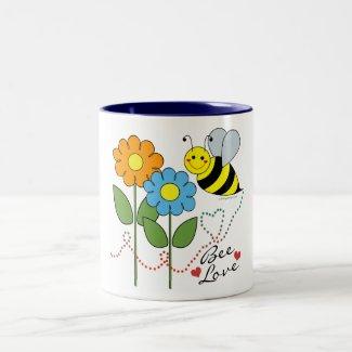 Bumble Bee With Flowers Bee Love Coffee Mug