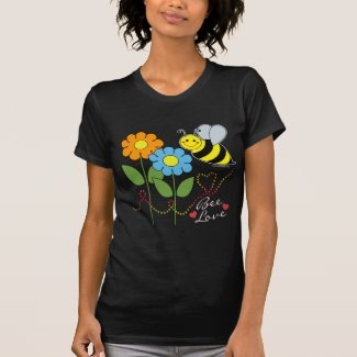 Bumble Bee With Flowers Bee Love Tshirt