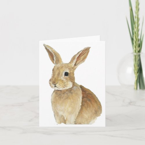 Bunny Art Note Card
