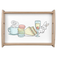 Bunny at Afternoon Tea Serving Tray