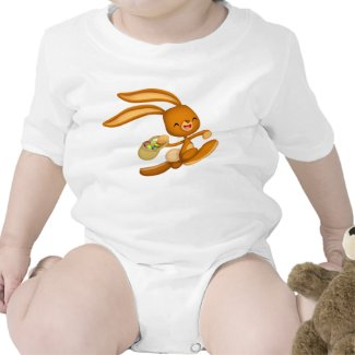 Bunny Easter on the Loose!! cartoon Baby apparel shirt