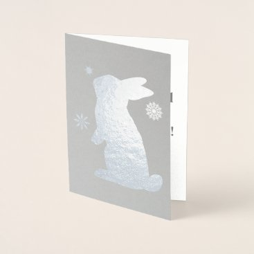 Bunny in the Snow Foil Card