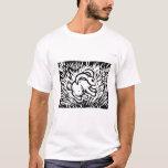 bunny lino-print style shirt