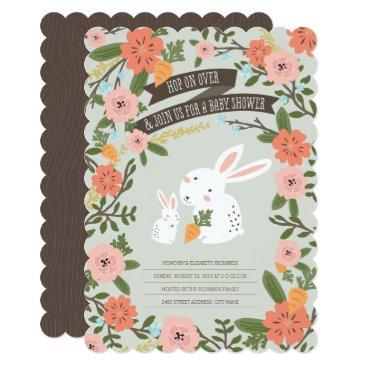 Bunny Love Baby Shower Invite