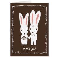 Bunny Rabbits Wedding Thank You Card