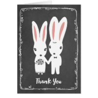 Bunny Rabbits Wedding Thank You Card