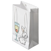 Bunny with Champagne Small Gift Bag