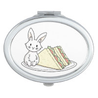 Bunny with Sandwiches Vanity Mirror