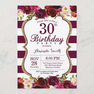 mens 30th birthday invitations zazzle