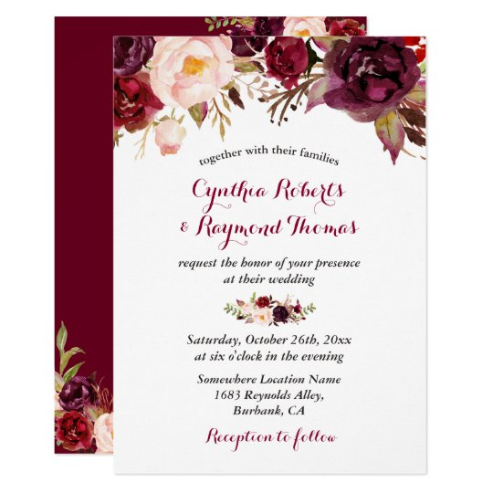 Red And Gold Bridal Shower Invitations