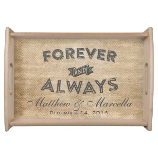 Burlap Forever and Always Wedding