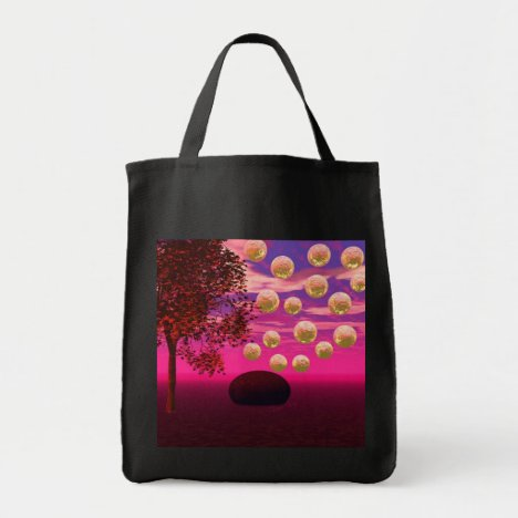 Burst of Joy – Abstract Magenta & Gold Inspiration Tote Bag