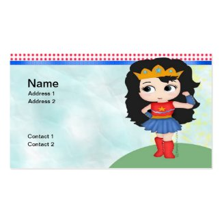 Female Superhero Business Cards