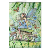 Busy Garden Fairy Greeting Card