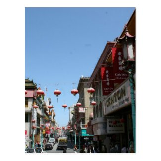 Busy Street in Chinatown, San Francisco Post Card