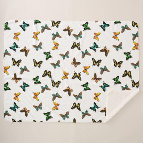 Butterflies Sherpa Blanket