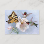 Butterfly and Hummingbirds Business Card
