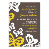 Butterfly Bridal Shower and Wedding Invitation
