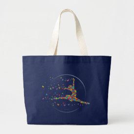 Butterfly Dancer Large Tote Bag