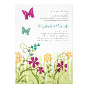 Butterfly Garden in Jewel Tones Personalized Invites