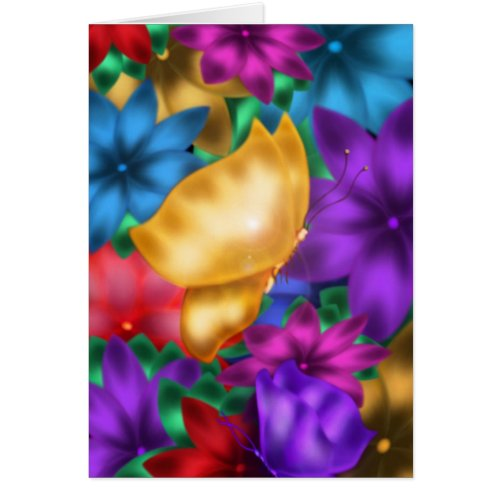 Butterfly in Paradise Card