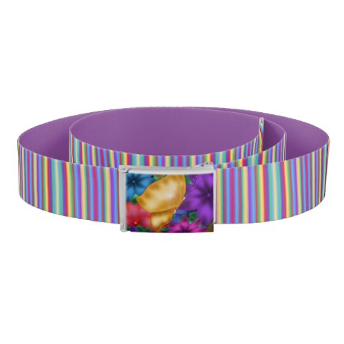 Butterfly Paradise and Stripes Belt