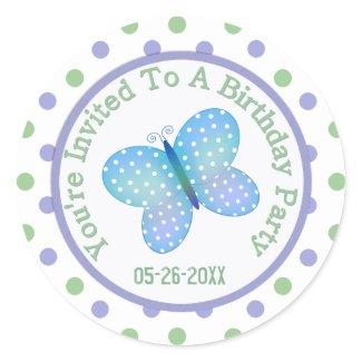 Butterfly: Save The Date Sticker zazzle_sticker