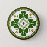 Button - Irish Good Luck Hex