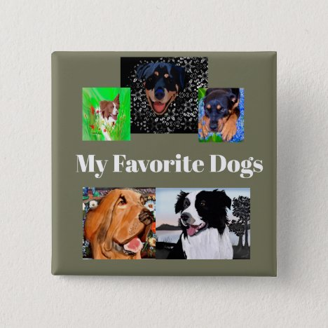 Button My Favorite Dogs Create-a-button 5-place
