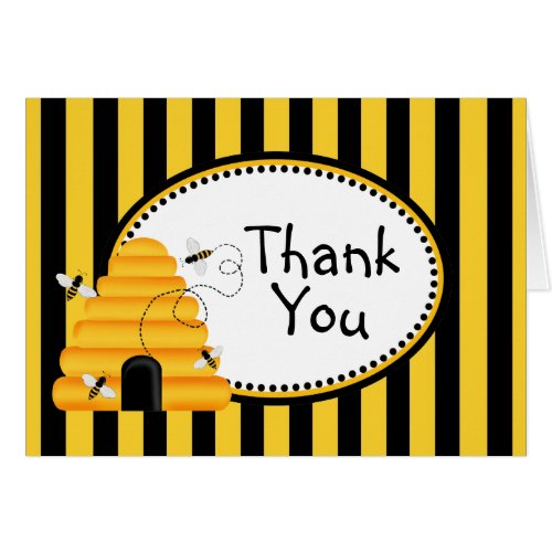 Buzzzing Bees Thank You Note Cards