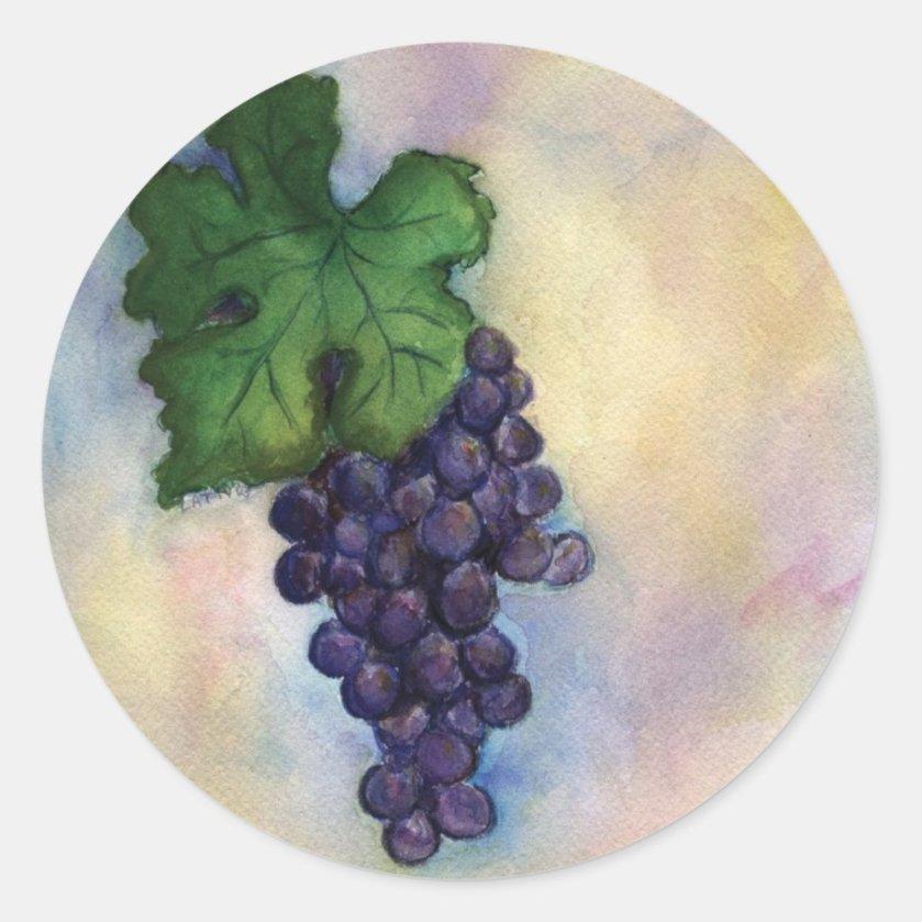 Cabernet Sauvignon Red Wine Grapes Stickers