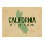 California All Good Postcard