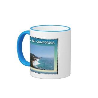 California Big Sur Ocean View II Coffee Mugs