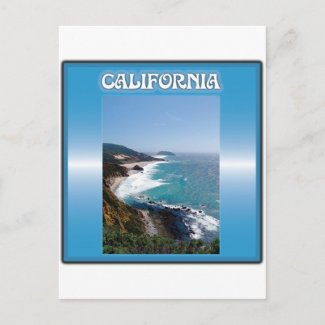 California Big Sur Ocean View Postcards