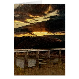 California Bridge Sunrise card