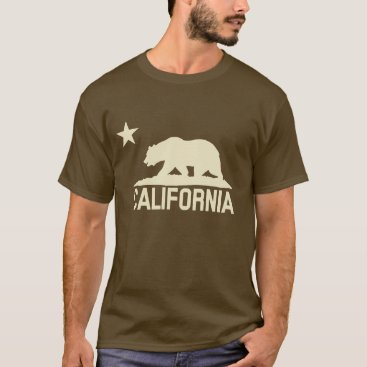 California Republic - CA Bear - Beige Silhouette T-Shirt