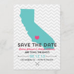 California State Save the Date  - Blue and Pink