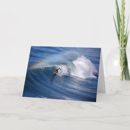 California Surfer with Rainbow card