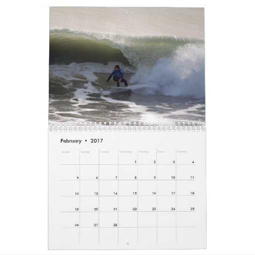 California Surfers Calendar 2017