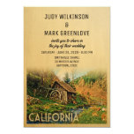 California Wedding Invitation Rustic Cabin Mill Wo