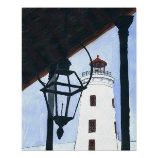 Camp St. Light House print