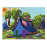 ❤️ Camping Postcard