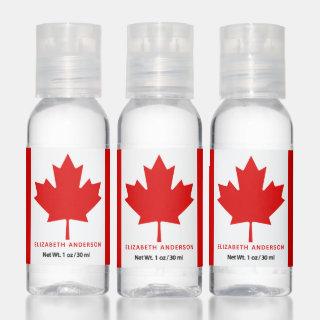 Canadian Flag Red Maple Leaf Hand Sanitizer