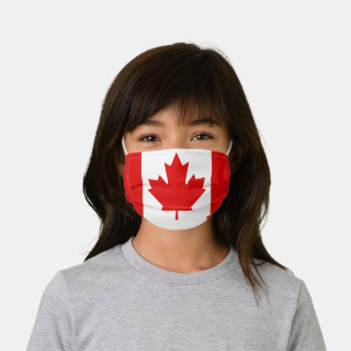 Canadian Flag Red Maple Leaf Kids' Cloth Face Mask